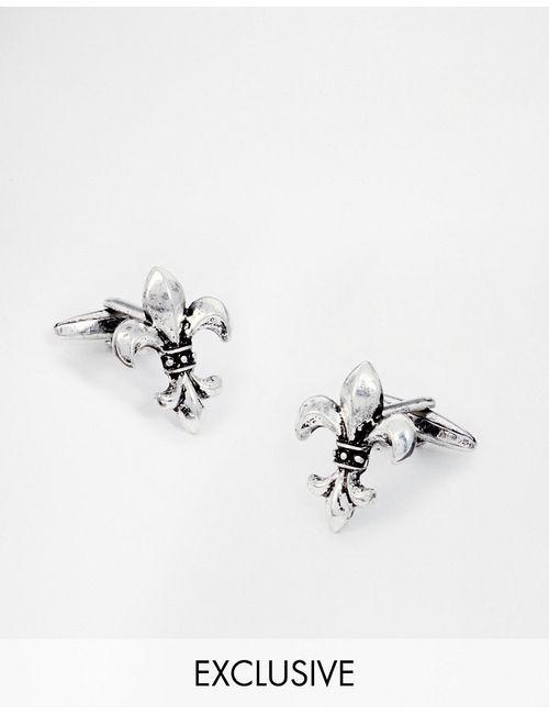 Designsix | Мужские Серебряные Серебристые Запонки С Крестом