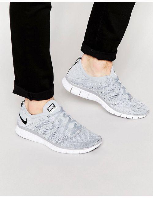 Nike | Серый Free Flyknit Trainers 599459-002
