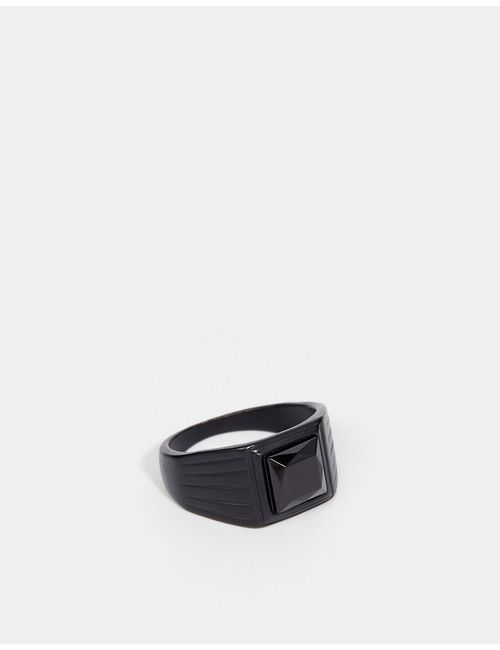 Asos | Чёрный Signet Ring In Black