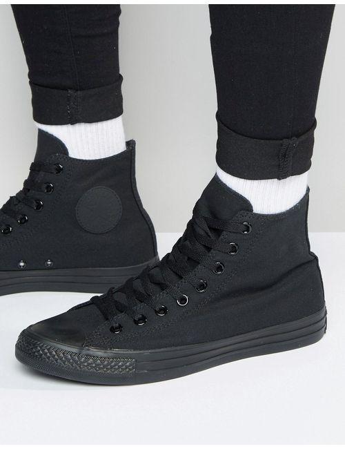 Converse | Чёрные Высокие Кеды All Star