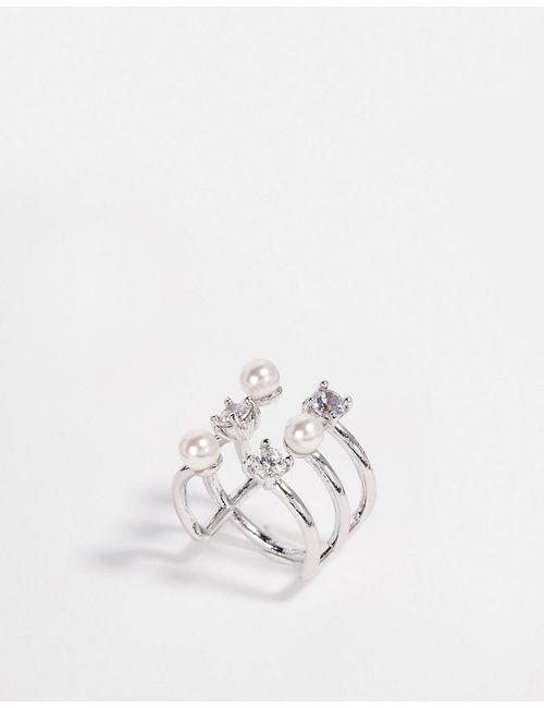 ASOS Collection | Женское Crystal Незамкнутое Кольцо Ограниченной Серии С Жемчугом