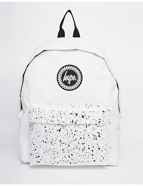 HYPE | Белый Рюкзак С Крапчатым Карманом