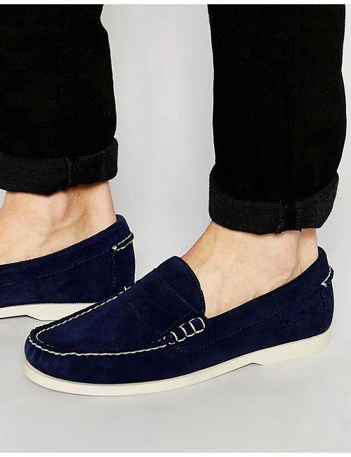Polo Ralph Lauren | Синие Замшевые Пеннилоферы Ralph Lauren Bjorn