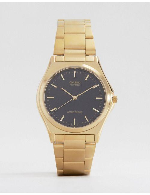 Casio | Мужские Золотые Часы С Ремешком Из Нержавеющей Стали Mtp1130n-1a
