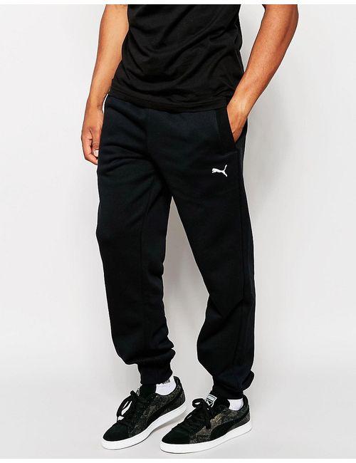 Puma | Чёрные Спортивные Штаны С Манжетами Черный