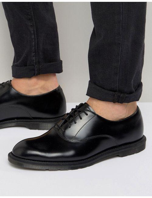 Dr. Martens   Мужские Чёрные Оксфордские Туфли Dr Martens Henley Черный