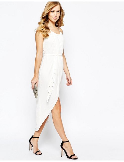 TFNC | Женское Платье Миди С Запахом Спереди И Поясом