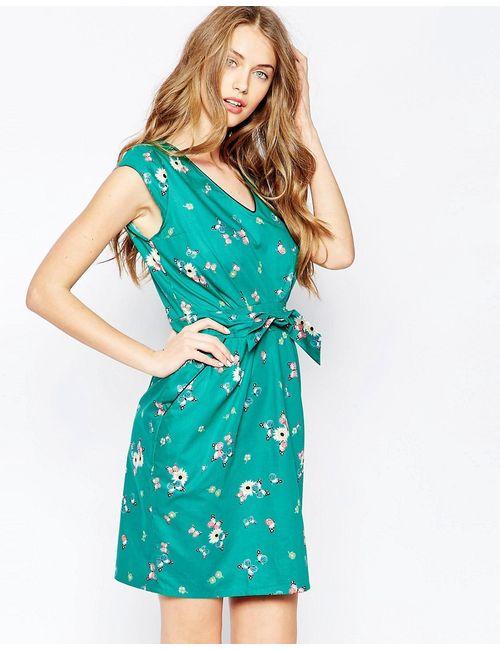 Trollied Dolly | Женское Зелёное Платье С Декольте Take Green Butterfly