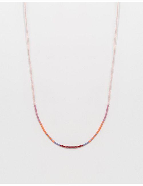 Asos | Розовое Ожерелье-Шнурок Ограниченной Серии С Бисером