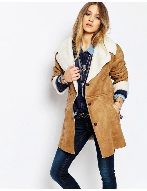 Blend She | Мужская 27900 В Стиле Ретро Куртка С Отделкой Из Искусственного Меха Sheapa