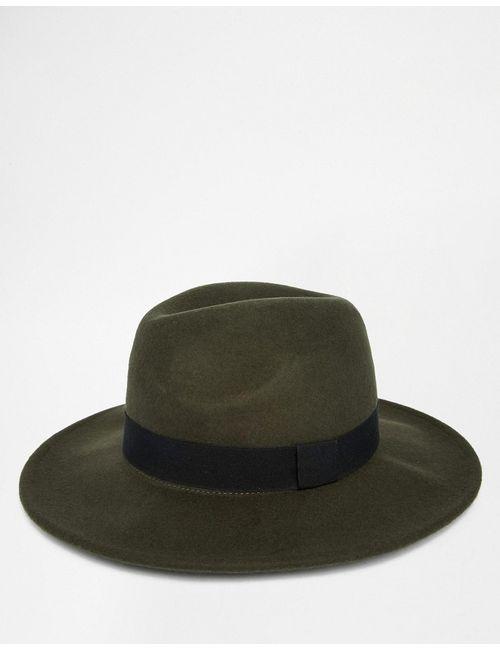 Asos | Хаки Мягкая Фетровая Шляпа Цвета