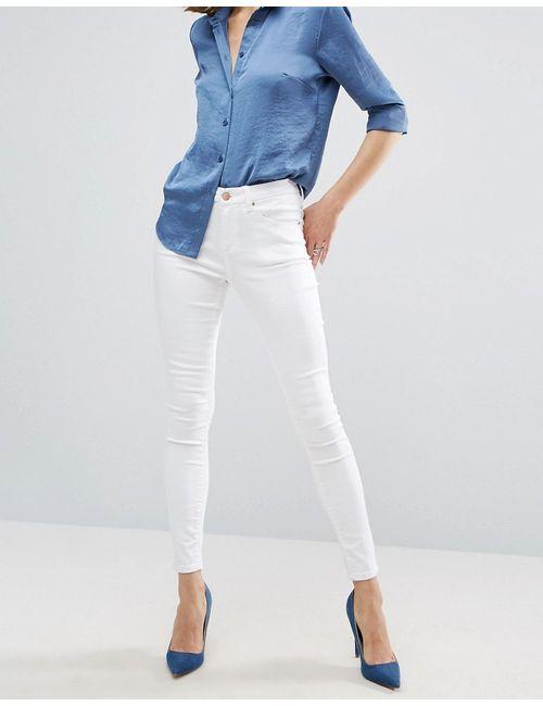 Asos | Женские Белые Белые Джинсы Sculpt Me Premium Видимый Белый