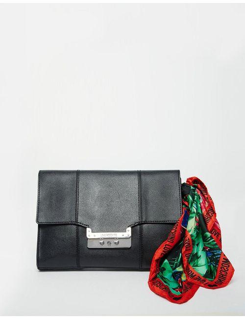 Love Moschino | Чёрный Клатч С Шарфом
