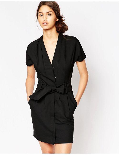 Ganni | Женское Чёрное Черное Платье Moscow Tailor