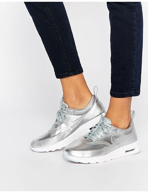 Nike | Мужские Серебристые Кроссовки Air Max Thea