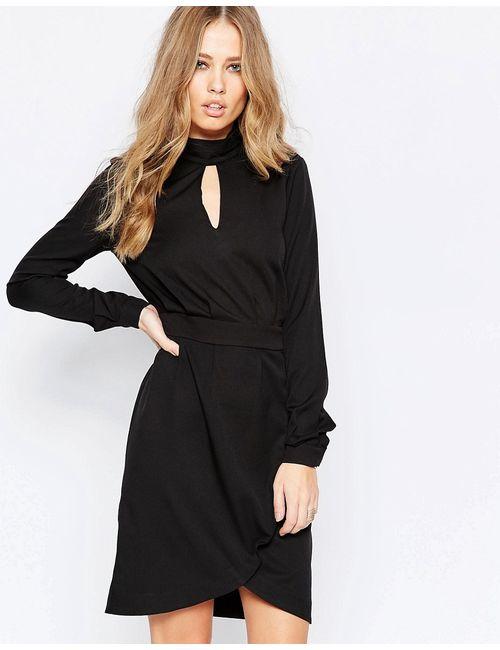 Y.A.S. | Чёрное Платье-Рубашка С Длинными Рукавами Y.A.S Venice Черный