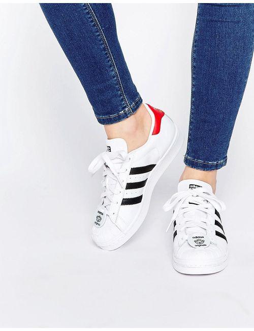 Adidas | Мужские Белые Кроссовки С Нашивкой Nigo Bear Originals Superstar