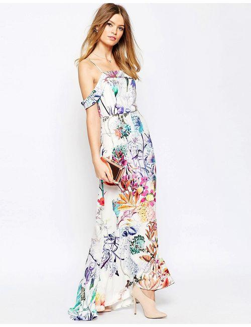 Asos | Женское Многоцветное Платье Макси С Цветочным Принтом Wedding Мульти