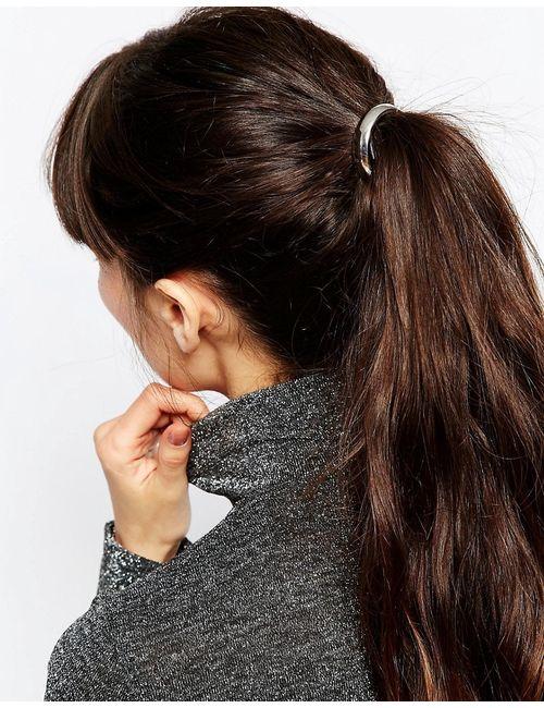 Asos | Серебряная Резинка Для Волос С Металлическим Кругом