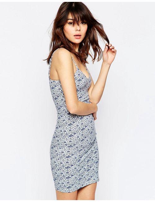 Asos | Женское Многоцветное Облегающее Платье Мини На Бретельках С Цветочным
