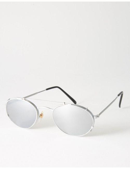 Reclaimed Vintage | Серебряные Круглые Солнцезащитные Очки Со Съемными Линзами