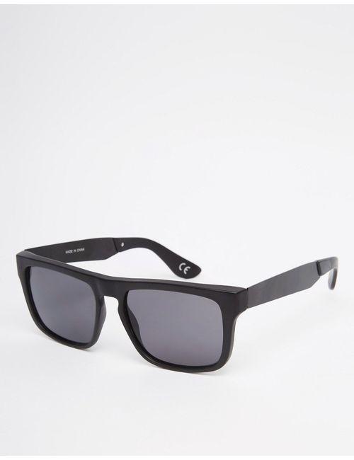 Vans | Чёрные Черные Квадратные Солнцезащитные Очки С Прямым Верхом