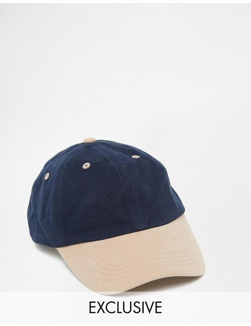 Reclaimed Vintage | Синяя Бейсболка С Контрастным Козырьком
