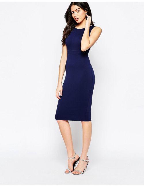 Twin Sister | Женское Синее Облегающее Платье Миди