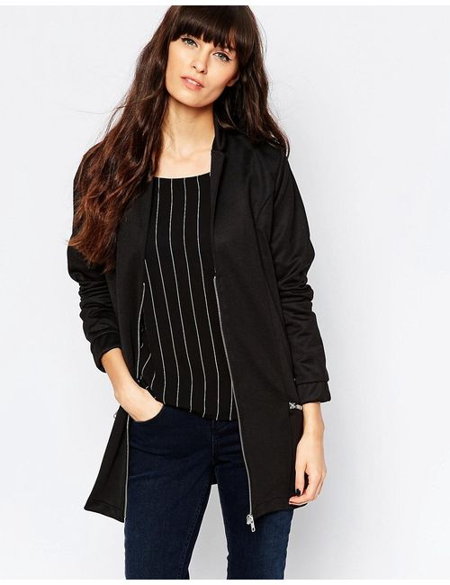Minimum | Чёрная Удлиненная Куртка-Пилот 999 Черный