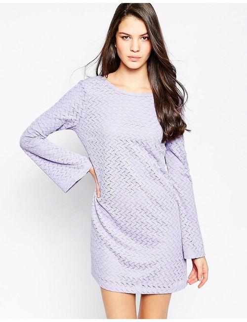 Motel   Женское Фиолетовое Вязаное Платье Dimitri Сиреневый