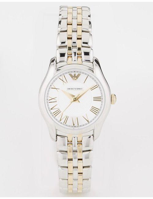 Emporio Armani | Женские Серебряные Двухцветные Наручные Часы