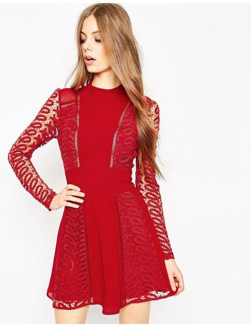 Asos | Женское Красное Платье Premium Красный
