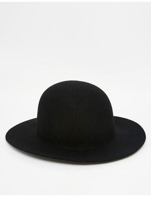 Asos | Мужская Чёрная Черная Шляпа Пасечника С Мягкими Полями Черный
