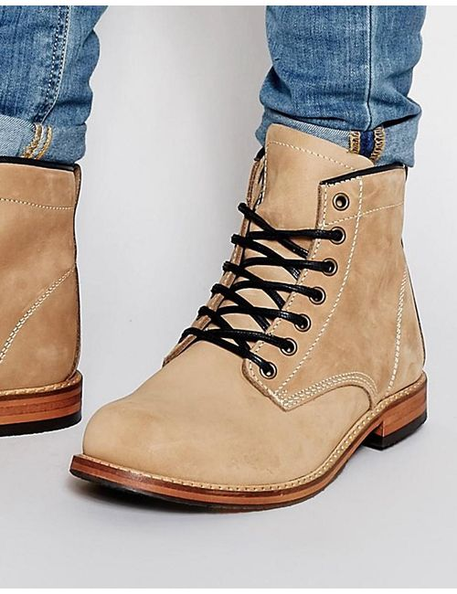 Aldo | Мужские Бежевые Ботинки Со Шнуровкой Hellums