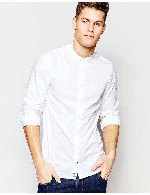 Tommy Hilfiger | Мужская Белая Белая Рубашка Без Воротника Белый