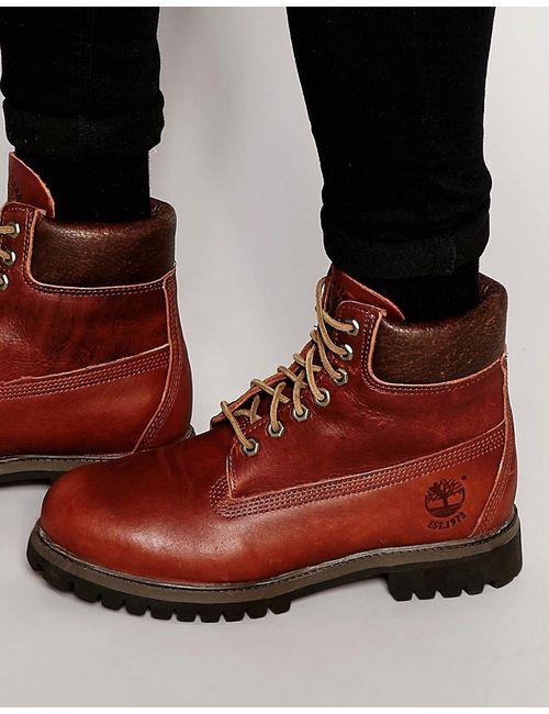 Timberland | Мужские Коричневые Кожаные Ботинки Classic Premium