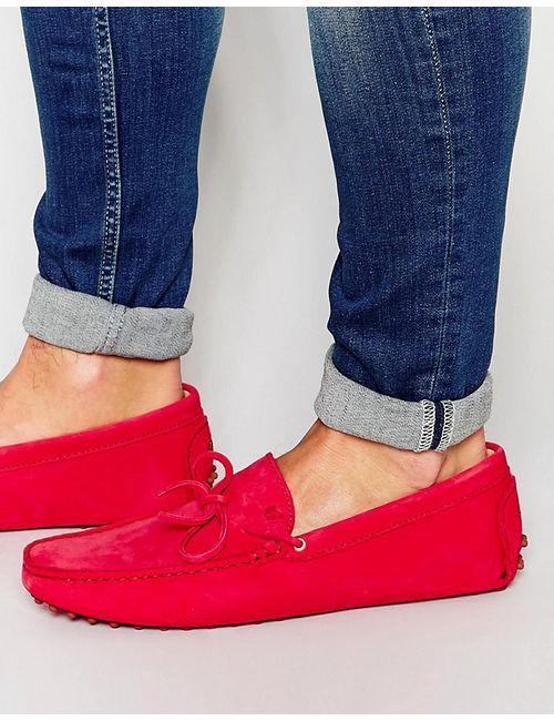 Bobbies | Мужские Красные Замшевые Мокасины Le Magnifique Красный