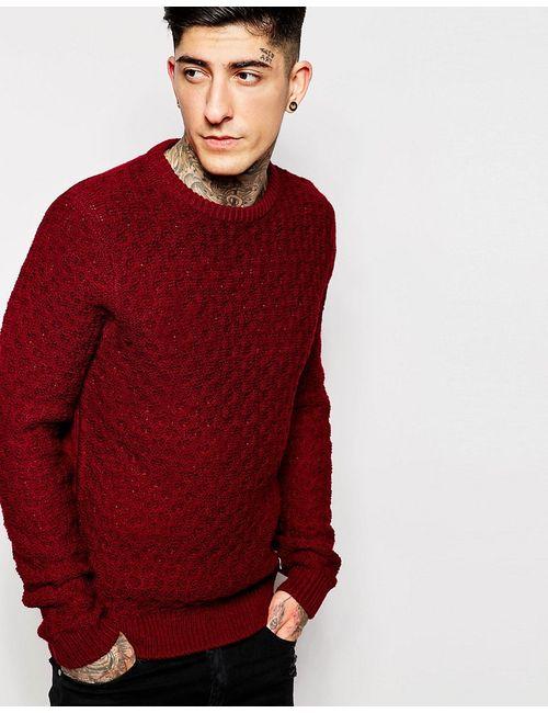 Threadbare | Красный Трикотажный Джемпер С Вафельной Фактурой
