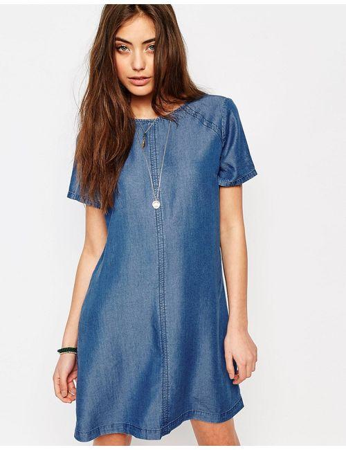 Abercrombie and Fitch | Женское Денившее Джинсовое Цельнокройное Платье Abercrombie Fitch Деним