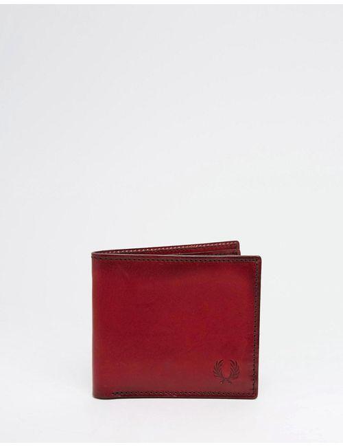 Fred Perry   Чёрный Кожаный Бумажник С Геометрическим Дизайном