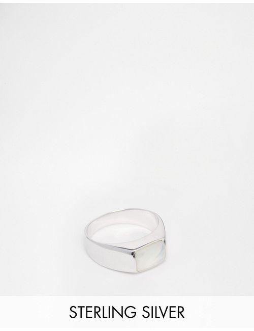 Seven London | Мужское Серебряное Кольцо С Камнем Серебряный