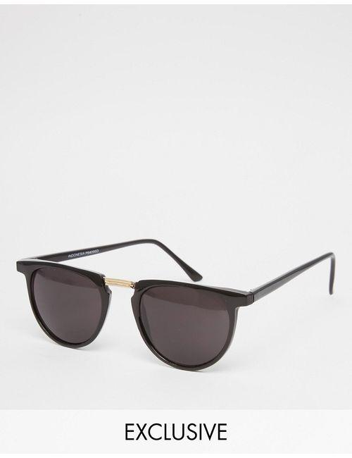 Reclaimed Vintage | Чёрные Круглые Солнцезащитные Очки