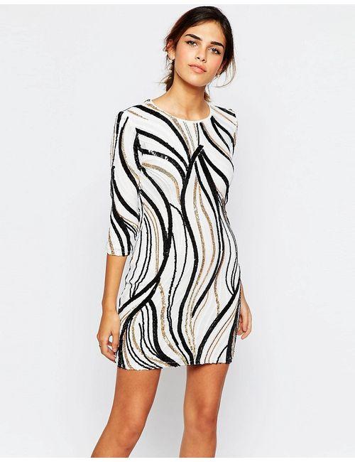 TFNC | Женское Многоцветное Облегающее Платье С Отделкой Пайетками