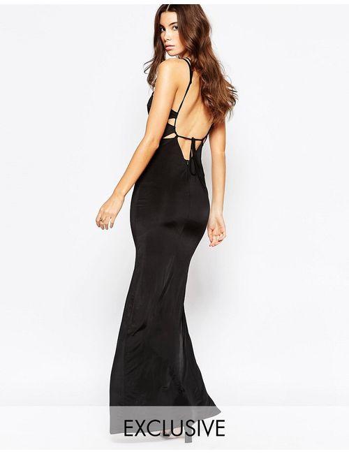 NaaNaa | Женское Черный Платье Макси С Открытой Спинкой Черный