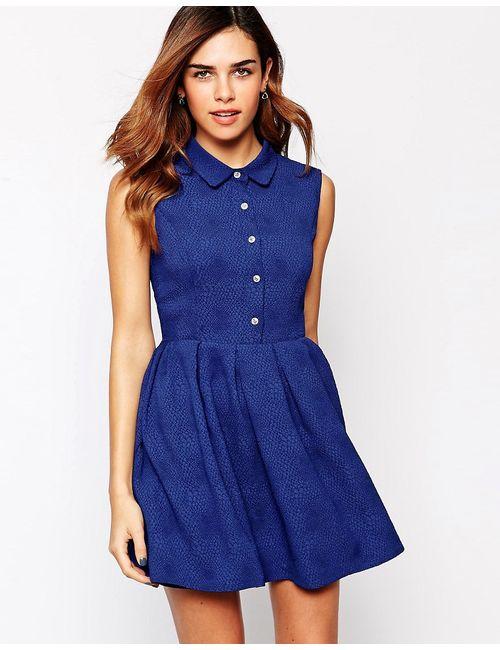 Jovonna | Женское Синее Платье Без Рукавов