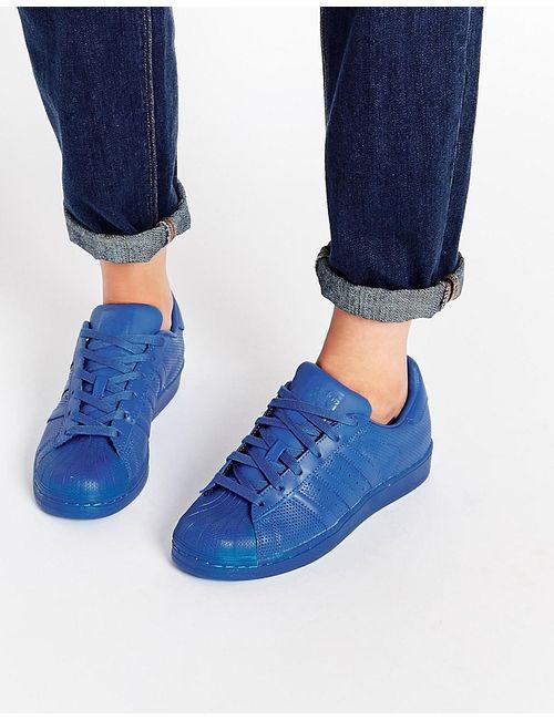 Adidas   Женские Синие Кроссовки Originals Superstar Super Colour