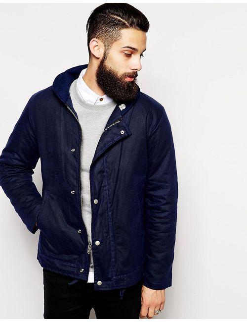Fidelity | Мужская Синяя Вощеная Хлопковая Куртка