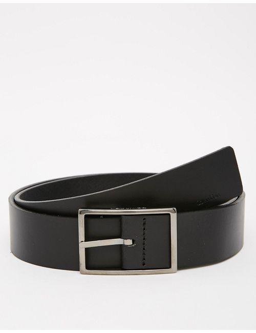 Calvin Klein | Чёрный Ремень С Классической Пряжкой