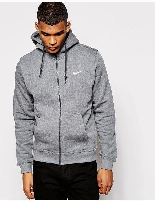 Nike   Мужские Серые Худи На Молнии С Логотипом