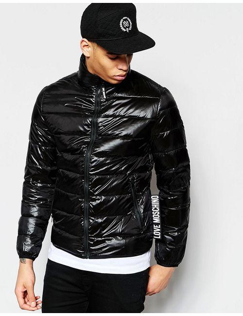 Love Moschino | Мужская Черный Дутая Куртка С Логотипом